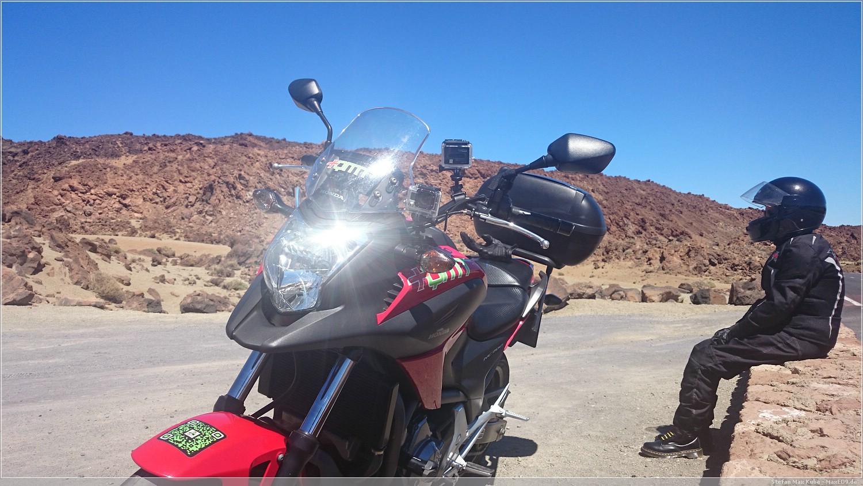 mit dem Mopped zum Teide