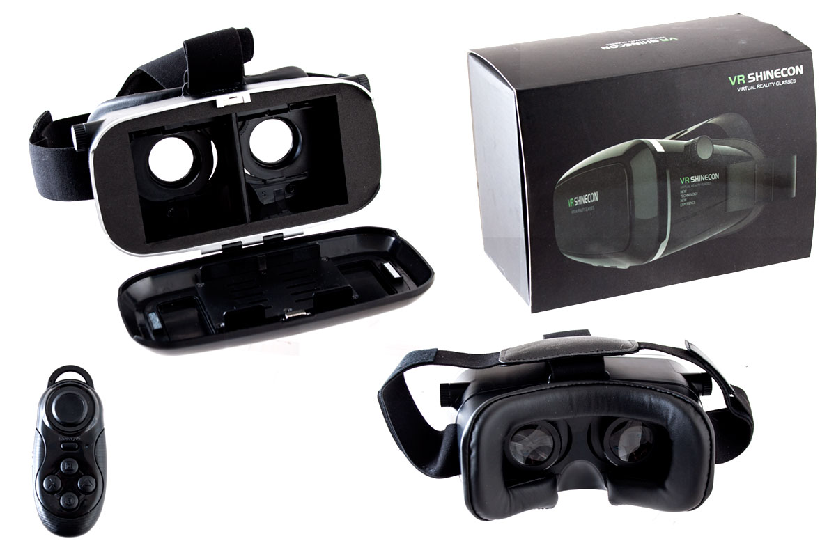 CeBit VR Brille inkl. Bluetooth Controller