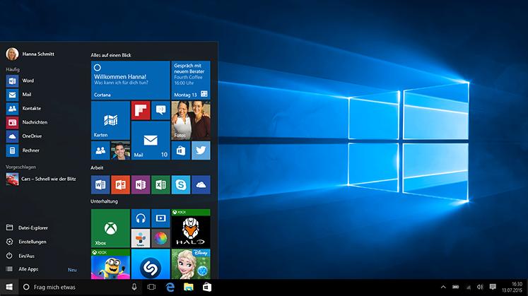 Windows 10 wieder mit Startmenü