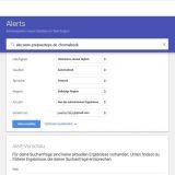 Google ALert Optionen