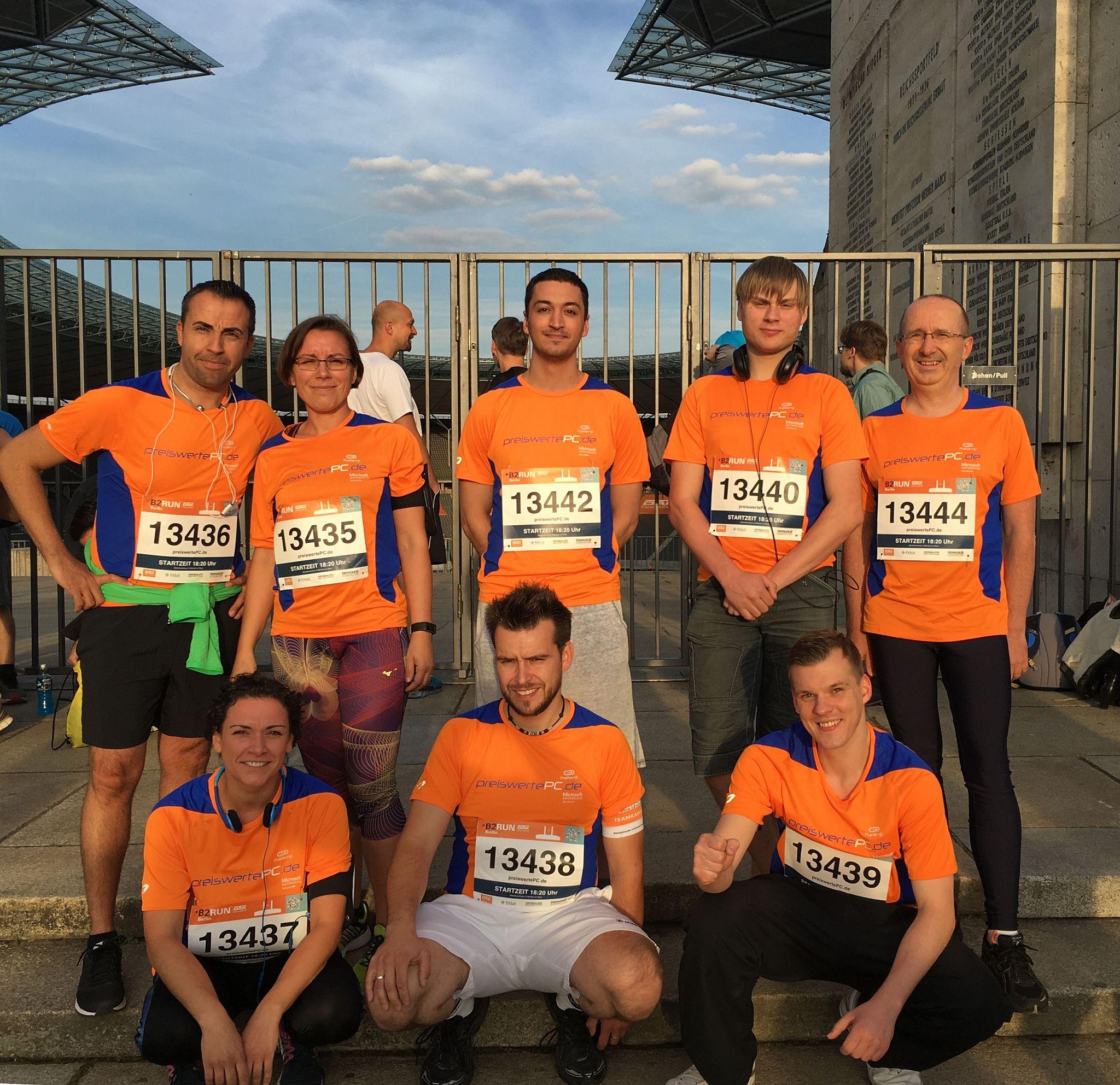 B2RUN - unser Team vor dem Lauf